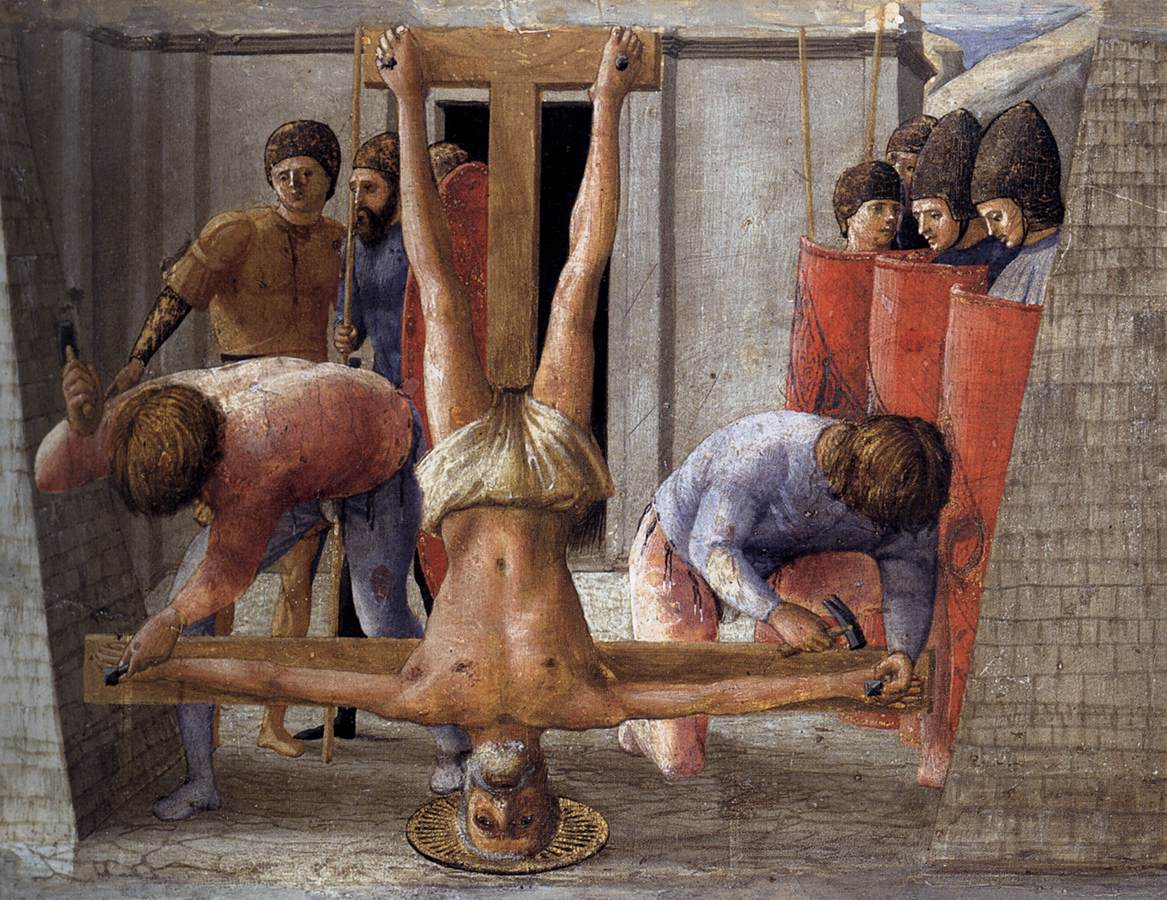 Crucifixion upside down